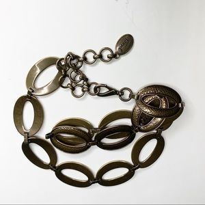 Fossil Hammered Links Bronze Metal belt
